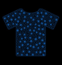 Flare mesh network t-shirt with flash spots vector