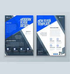 Flyer design blue modern flyer background design vector