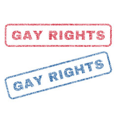 gay rights textile stamps vector image