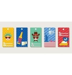 Gift tags themed 4th of July vector