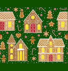 gingerbread pattern vector image