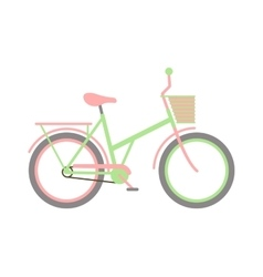 Girl bike vector image