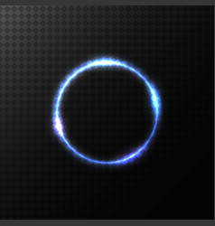 Glowing colorful circle vector