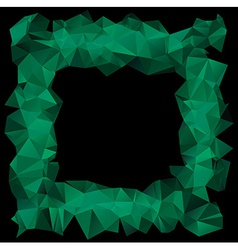 Green crystallic frame vector image