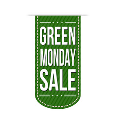 Green monday sale banner design vector
