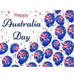 happy australia day helium balloons with vector image