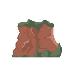 hill top isolated vector image