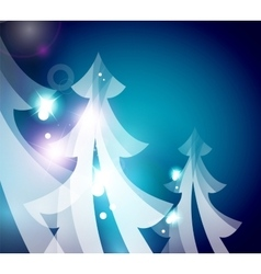 Holiday blue abstract background winter vector image