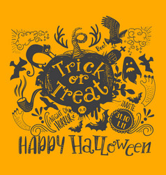 horizontal halloween lettering quote vector image vector image
