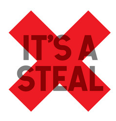 It is a steal stamp vector