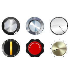 knobs set 1 vector image vector image