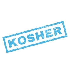 Kosher Rubber Stamp vector