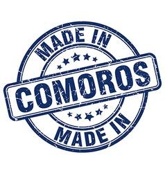 made in Comoros vector image vector image