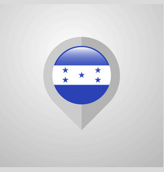map navigation pointer with honduras flag design vector image