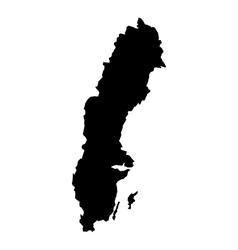 map sweden vector image