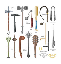 Medieval weapons ancient protection warrior vector