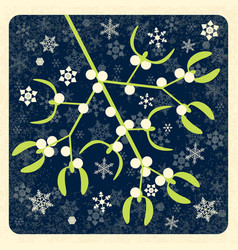 Mistletoe mistletoe branch with berries new year vector