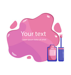 Nail polish template for poster banner flyer vector
