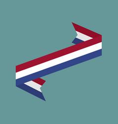 netherlands flag ribbon isolated dutch tape vector image