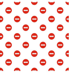 no entry pattern seamless vector image