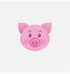 Pig face icon isolated on white background vector