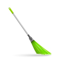 Plastic garden broom vector image