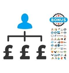 Pound Collector Icon With 2017 Year Bonus Symbols vector