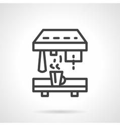 Professional coffee machine black line icon vector
