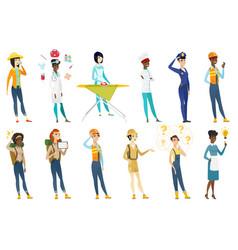 Professional women set vector