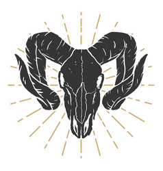 Ram skull design elements for label sign logo vector