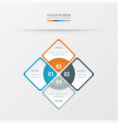 Rectangle presentation orange blue gray color vector