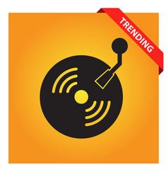 Retro vinyl icon vector