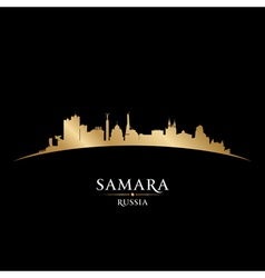 Samara Russia city skyline silhouette vector