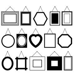 set of different picture frames vector image