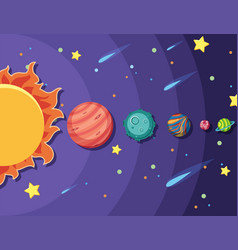 Set solar system vector