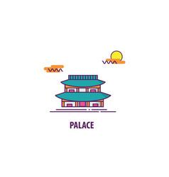 south korea palace vector image