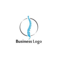 spine diagnostics symbol logo template design vector image