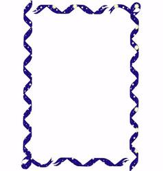 Star ribbon border vector