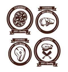 Steakhouse bbq emblems vector