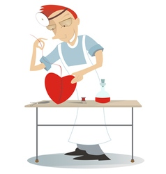 Surgery and the heart vector image
