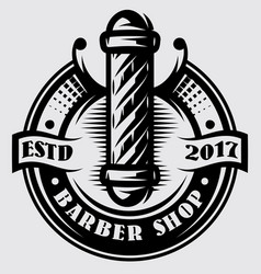 template for barber pole on topic barber vector image