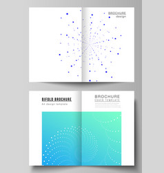 The layout of two a4 format modern cover vector