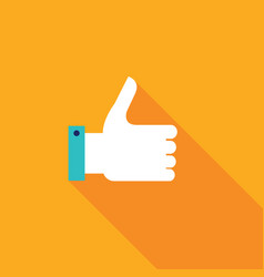 thumbs up icon colorful modern flat design for vector image