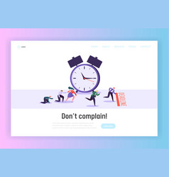 Time and term deadline concept landing page vector