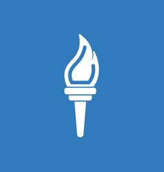 Torch icon symbol fire hot flame power flaming vector