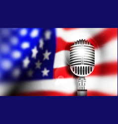 usa flag with mic vector image