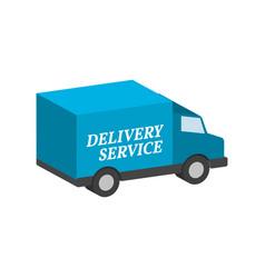 Van commercial vehicle delivery service symbol vector