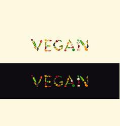 vegan banner set vector image