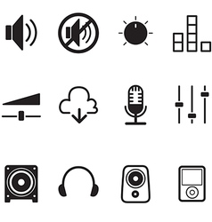 Volume controller Speaker technology icon set vector image