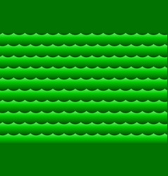 waves - abstract green vector image